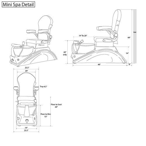 Mini Blue Kids Spa Chair