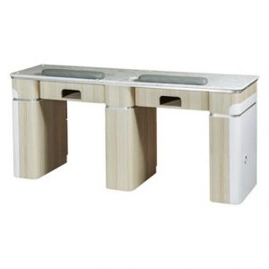 Topas Double Nail Table with Pipe