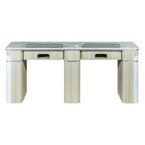 "Topas Double Nail Table 69"" – 1 Hole LED"