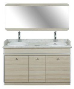 Topas Double Sink With Faucets 55""