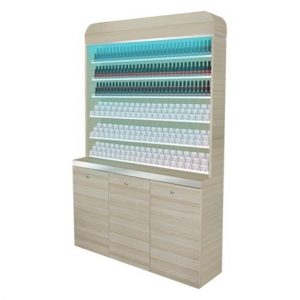 Topas Polish Gel Rack With Powder Cabinet 48""