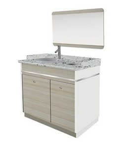 Topas Single Sink With Faucet 35""