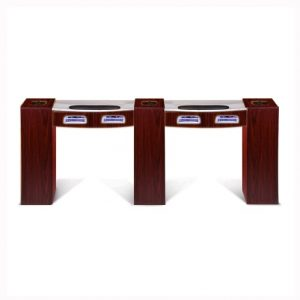 Classic Double Manicure Table with UV Gel Lights