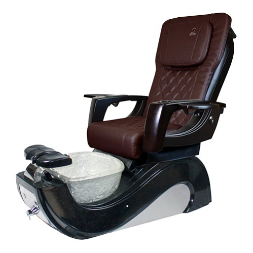 Indy 3D Black and White Spa Pedicure Chair