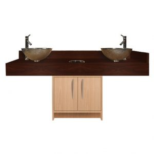 Contemporary Island Sink with Glass Bowl