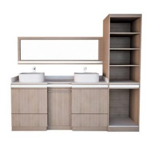 """Double Sink w/Cabinet 80"""""""