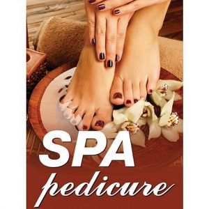 Holographic Window Decal – Spa pedicure – H-2