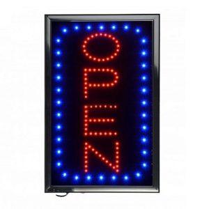 Vertical LED Open Sign