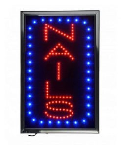 Vertical Nails LED Sign