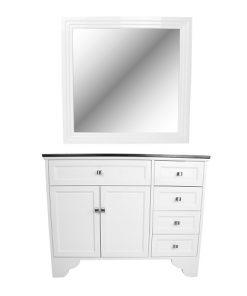 Maybelle Traditional Vanity Styleing Station W/Mirror