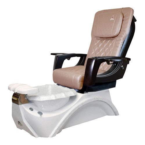 Dover 3D Snow White Pedicure Spa Chair