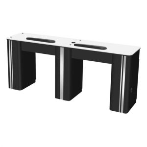 Atlanta II Double Table – Black Silver