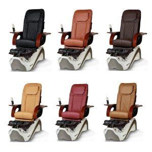 Empress Le Pedicure Chair White Silver Ebuynail