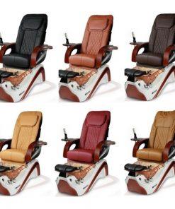 Empress Le Pedicure Chair Whiteorange