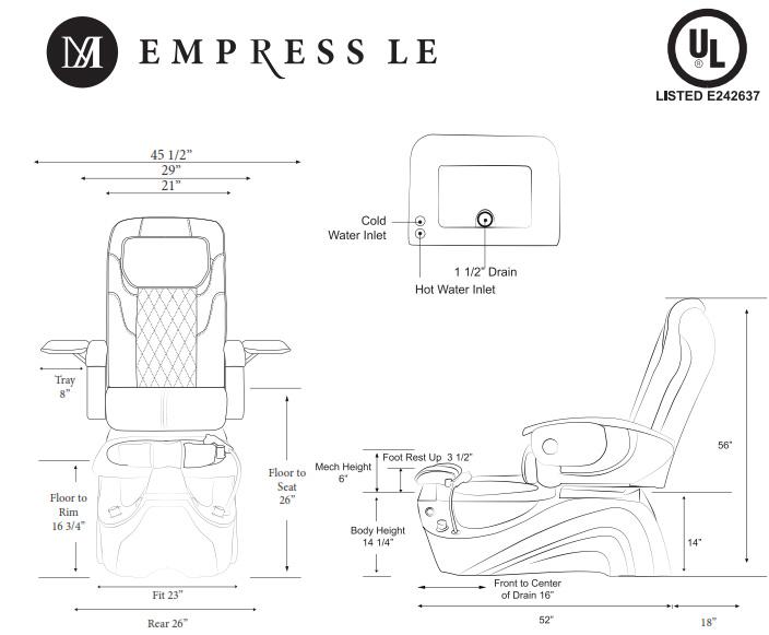 Empress LE Pedicure Chair - Empress LE Pedicure Chair