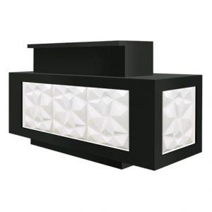 Facet Reception Desk with LED Light