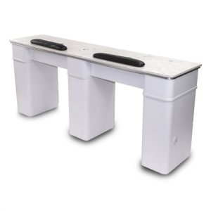 White Sonoma Double Nail Table