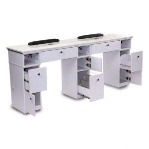 White Sonoma Double Nail Table