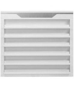 White Sonoma Double Shelves Polish Rack Double