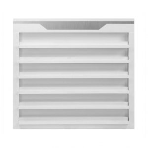 White Sonoma Double Shelves Polish Rack Double