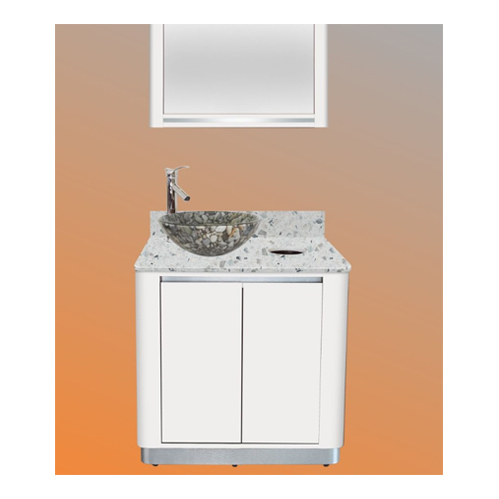 White Sonoma Single Sink with Mirror