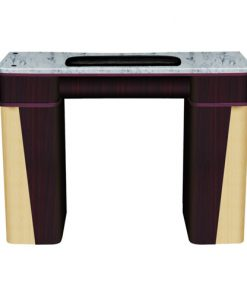 Classic Nail Table – White Stone Marble