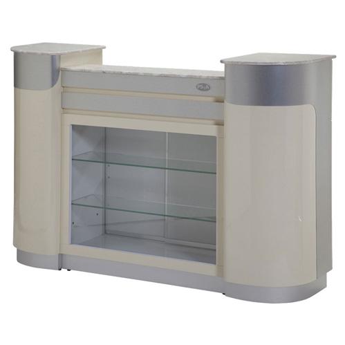 Reception Desk C-108 (Beige/Aluminum)
