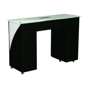 Edita Vented Manicure Table Black
