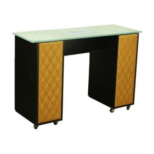 Le Beau Vented Manicure Table Black