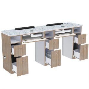 Nova II Double Manicure Table (With Exhaust)