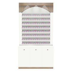 Nova II Polish & Powder Rack With Cabinets