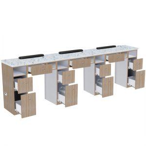 Nova II Triple Manicure Table