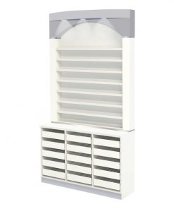 Nova I Polish & Powder Rack With Cabinet