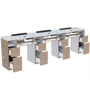 Nova II Triple Manicure Table With Exhaust
